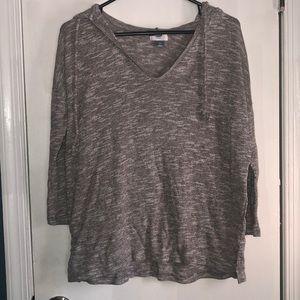 Knit v-neck sweatshirt